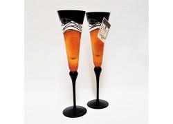 Sklenice na šampaňské 180ml set 2ks www.sklenenevyrobky.cz