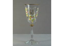 Jubilee wine glass Angela 65 years www.sklenenevyrobky.cz