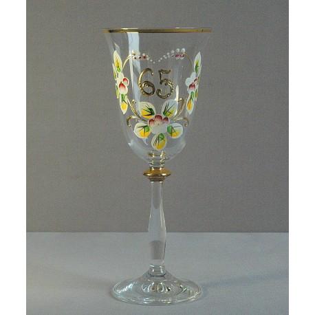 Výroční sklenička Angela 65 let (250ml crystal) www.sklenenevyrobky.cz