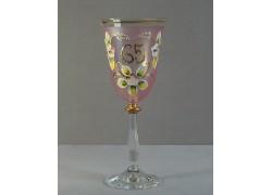 Výroční sklenička Angela 65 (250ml růžová)
