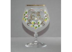 Jubilee Glass Carmen 65 years white www.sklenenevyrobky.cz