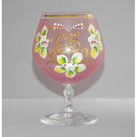 Výroční sklenička Carmen 65 let (400ml růžová) www.sklenenevyrobky.cz