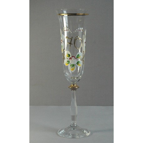 Výroční sklenička Angela - flétna 70 (190ml crystal)