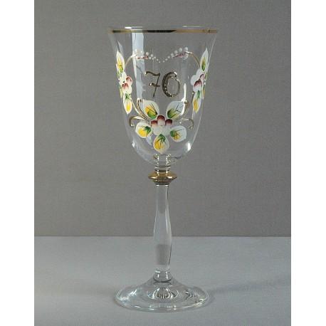 Výroční sklenička Angela 70 let (250ml crystal) www.sklenenevyrobky.cz