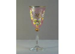Výroční sklenička Angela 70 (250ml růžová)