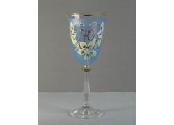 Výroční sklenička Angela 70 (250ml modrá)