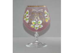 Jubilee Glass Carmen 70 years pink www.sklenenevyrobky.cz