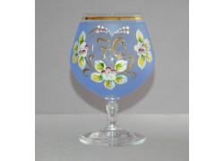 Jubilee Glass Carmen 70 years blue www.sklenenevyrobky.cz