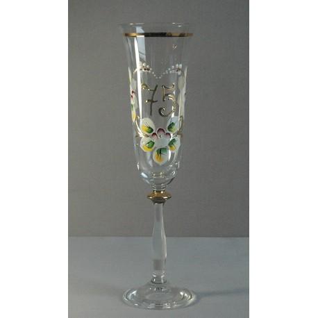 Výroční sklenička Angela - flétna 75 (190ml crystal)