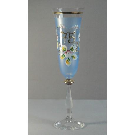 Výroční sklenička Angela - flétna 75 (190ml modrá)