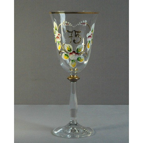Výroční sklenička Angela 75 (250ml crystal)