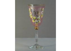 Jubilee wine glass Angela 75 years www.sklenenevyrobky.cz