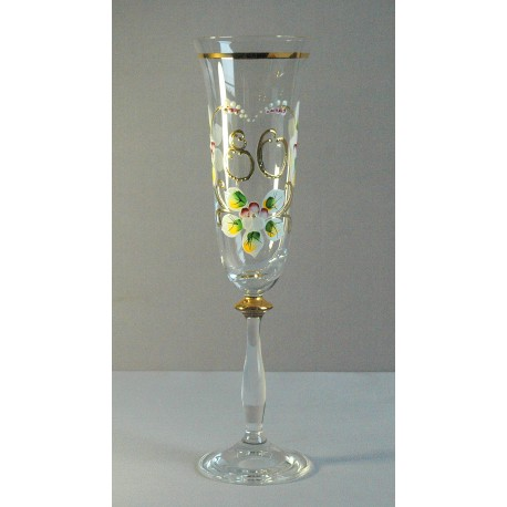 Výroční sklenička Angela - flétna 80 let (190ml crystal) www.sklenenevyrobky.cz