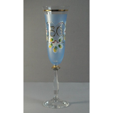 Výroční sklenička Angela - flétna 80 (190ml modrá)