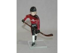 Skleněný hokejista Kanada 11 cm