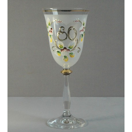 Výroční sklenička Angela 80 (250ml bílá)