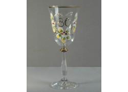 Jubilee wine glass Angela 80 years www.sklenenevyrobky.cz