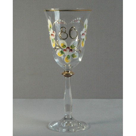 Výroční sklenička Angela 80 (250ml crystal)
