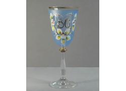 Výroční sklenička Angela 80 let (250ml modrá) www.sklenenevyrobky.cz