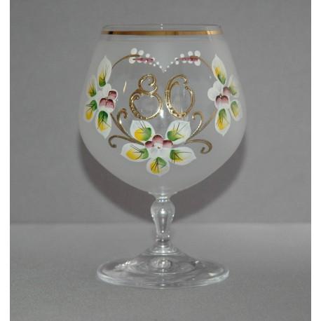 Výroční sklenička Carmen 80 let (400ml bílá) www.sklenenevyrobky.cz