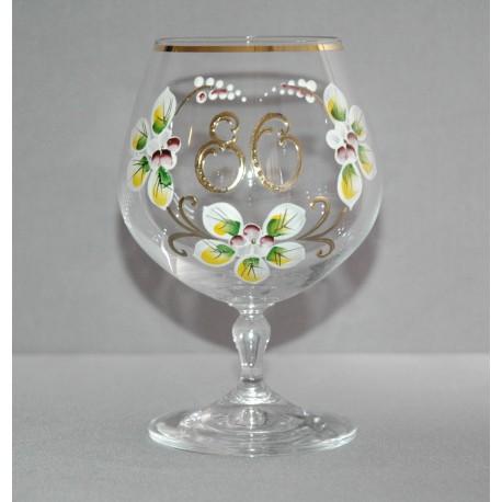 Výroční sklenička Carmen 80 let (400ml čirá) www.sklenenevyrobky.cz