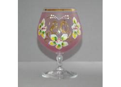 Jubilee Glass Carmen 80 years pink www.sklenenevyrobky.cz