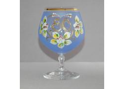 Jubilee Glass Carmen 80 years blue www.sklenenevyrobky.cz