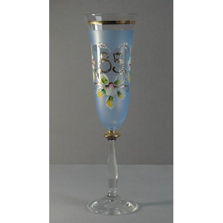 Výroční sklenička Angela - flétna 85 (190ml modrá)