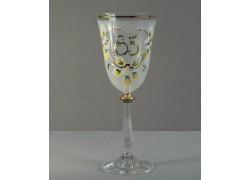 Jubilee wine glass Angela 85 years www.sklenenevyrobky.cz