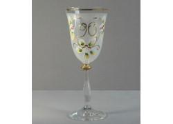 Jubilee wine glass Angela 90 years www.sklenenevyrobky.cz