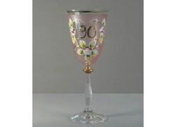 Výroční sklenička Angela 90 (250ml růžová)