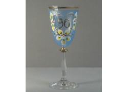 Výroční sklenička Angela 90 let (250ml modrá) www.sklenenevyrobky.cz
