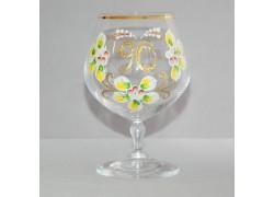 Výroční sklenička Carmen 90 let (400ml čirá) www.sklenenevyrobky.cz