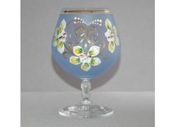 Jubilee Glass Carmen 90 years blue www.sklenenevyrobky.cz