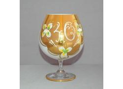 Výroční sklenice Natálie na koňak 40 let Opál