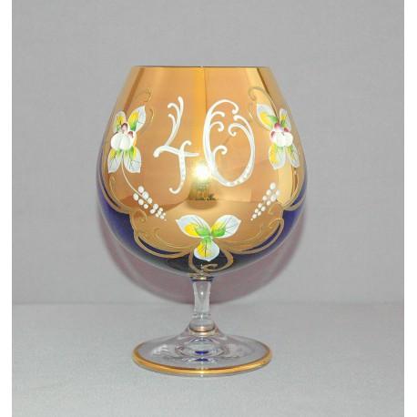 Výroční sklenice Natálie na koňak 40 Kobaltová modř 400 ml