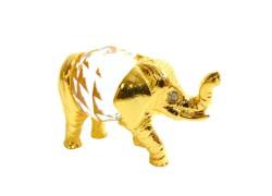 Tin figurine of an elephant www.sklenenevyrobky.cz