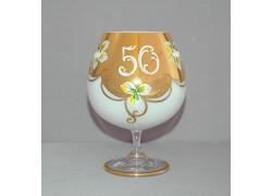 Jubilee Glass Natalie 50 for cognac 400 ml ruby white colour www.sklenenevyrobky.cz