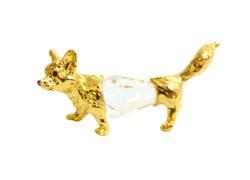 Tin figurine of a fox www.sklenenevyrobky.cz