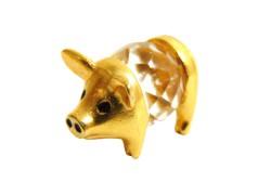 Tin figurine piggy mini www.sklenenevyrobky.cz