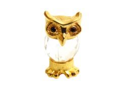 Tin figurine owl mini www.sklenenevyrobky.cz