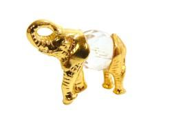Tin figurine mini elephant www.sklenenevyrobky.cz