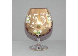Jubilee Glass Natalie 55 for cognac 400 ml ruby red colour www.sklenenevyrobky.cz