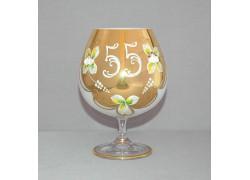 Výročný pohár Natálie 55 na koňak 400 ml opál www.sklenenevyrobky.cz