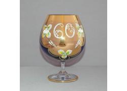 Jubilee Glass Natalie 60 for cognac 400 ml blue colour www.sklenenevyrobky.cz