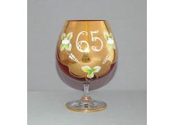 Výroční sklenice Natálie na koňak 65 Rubín 400 ml
