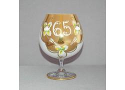 Jubilee Glass Natalie 65 years for cognac 400 ml white colour www.sklenenevyrobky.cz