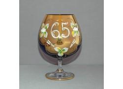 Jubilee Glass Natalie 65 years for cognac blue colour www.sklenenevyrobky.cz