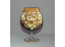 Výroční sklenice Natálie na koňak 65 Kobaltová modř 400 ml