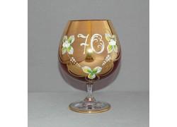 Jubilee Glass Natalie 70 years for cognac 400 ml ruby red colour www.sklenenevyrobky.cz